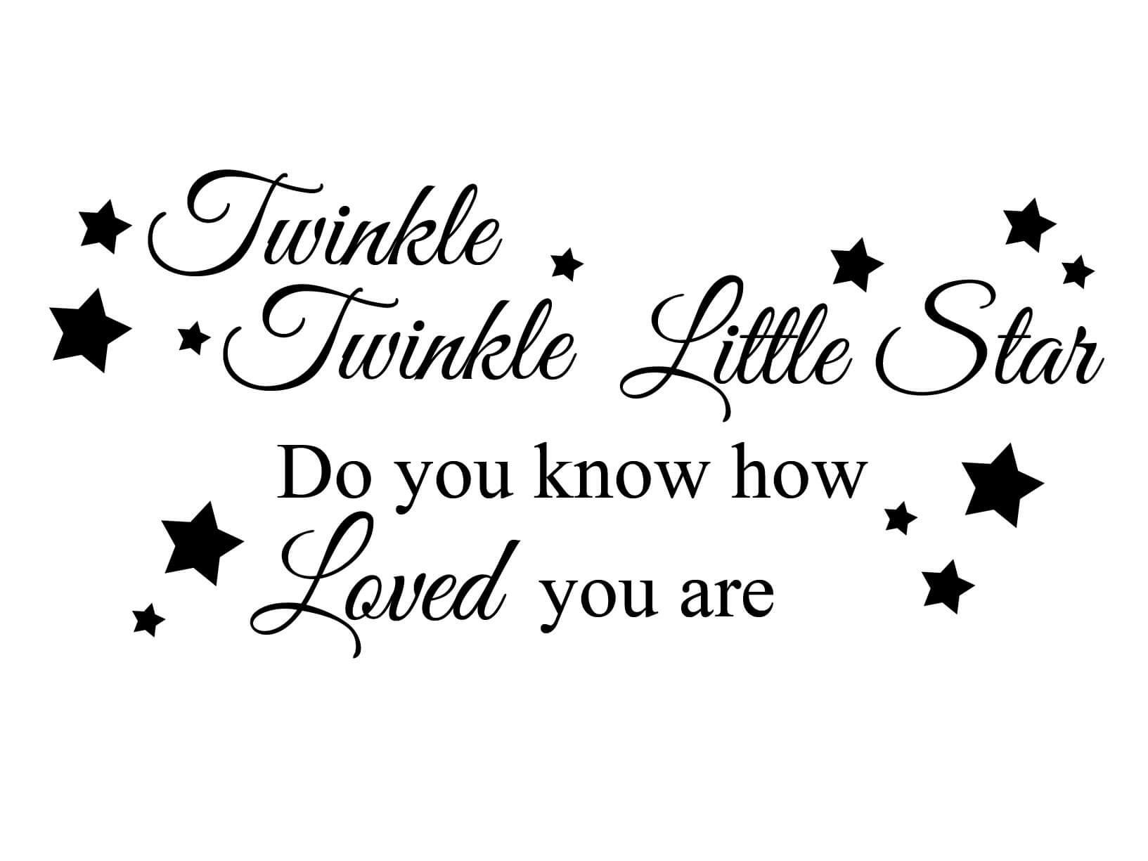 Muursticker quot twinkle little star muurstickers
