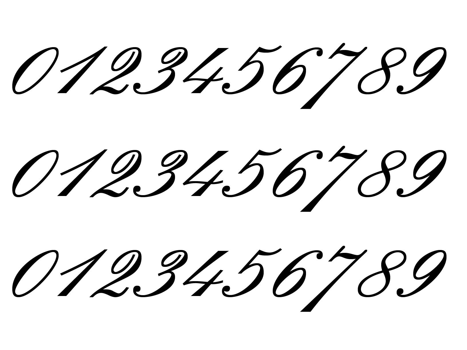 "Meubelsticker ""0-9 cijfers"""