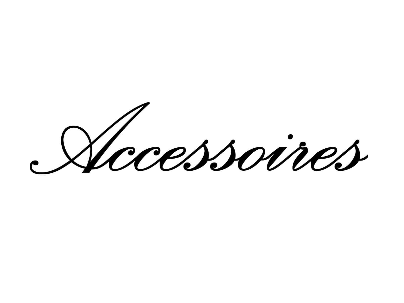 "Meubelsticker ""Accessoires"""