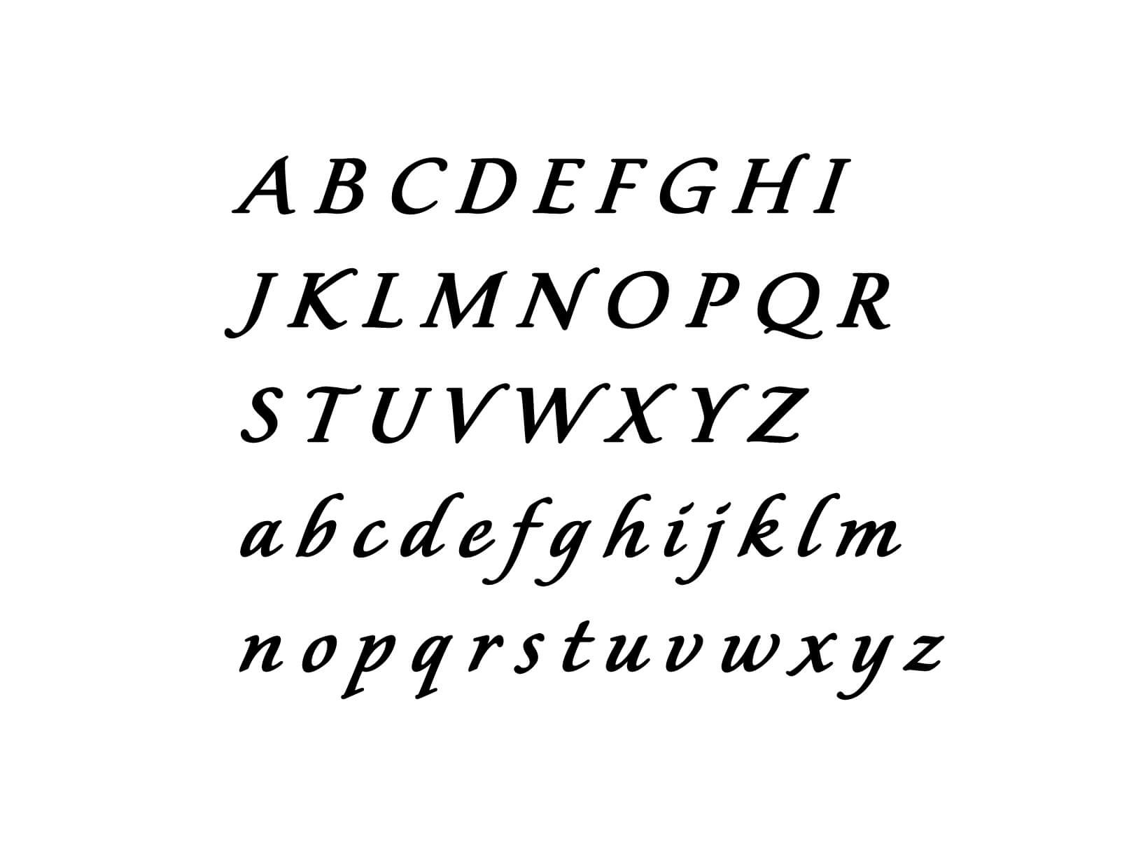 "Muursticker ""Alfabet type 5"""
