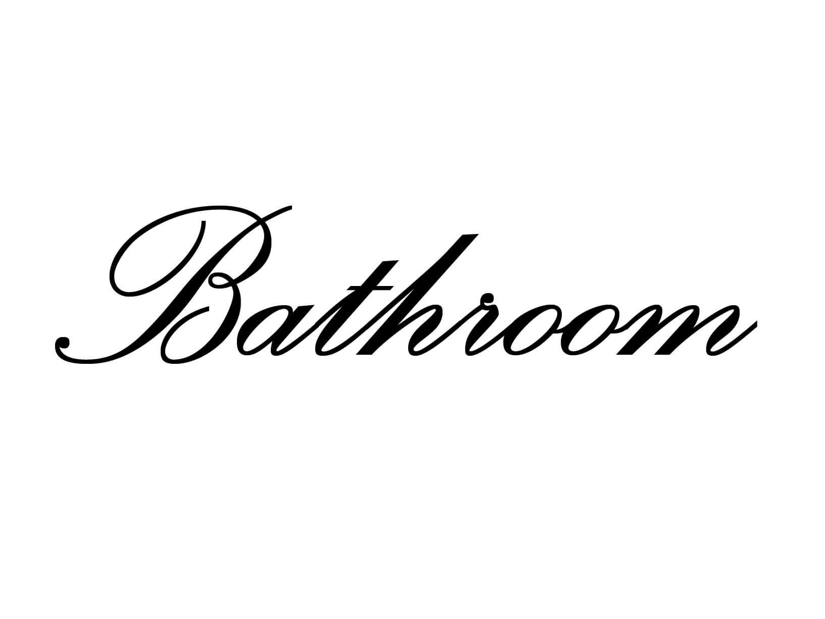 "Deursticker ""Bathroom"""