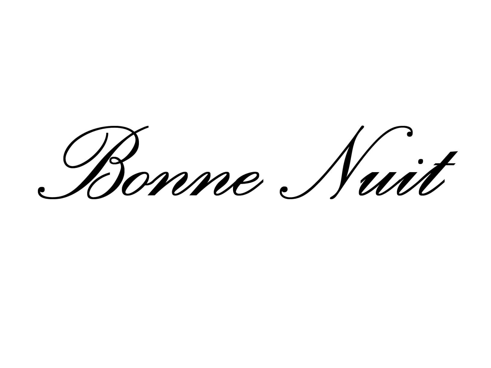 "Meubelsticker ""Bonne Nuit"""