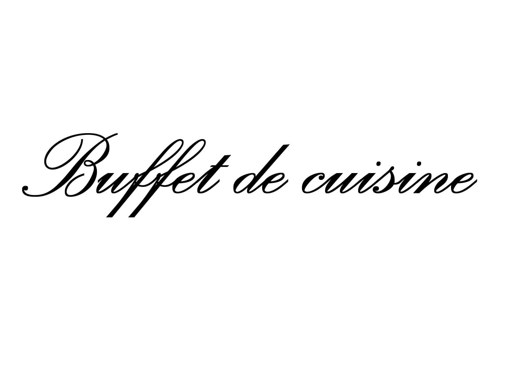 """Meubelsticker """"Buffet de cuisine"""""""
