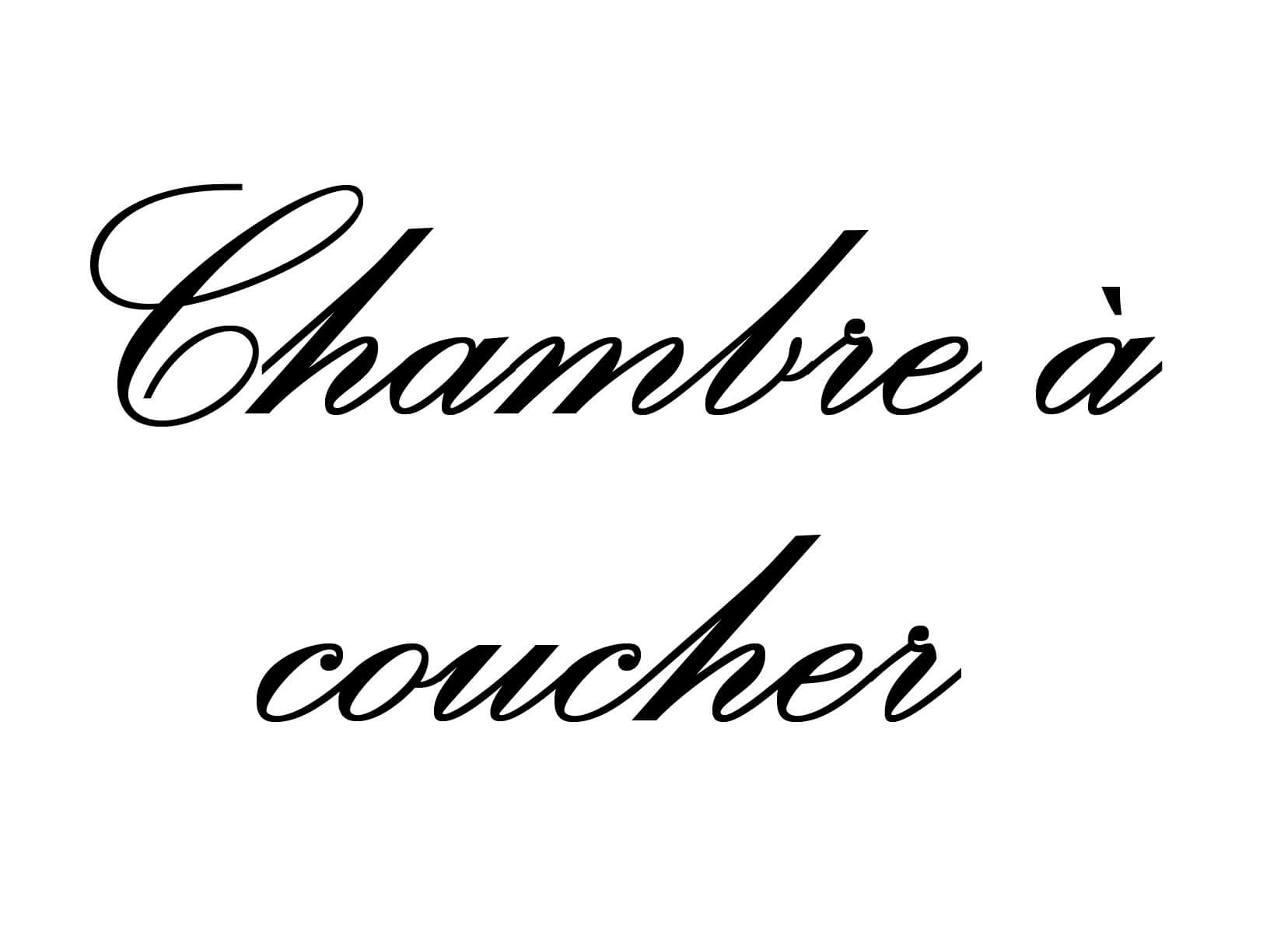 "Deursticker ""Chambre à Coucher"""