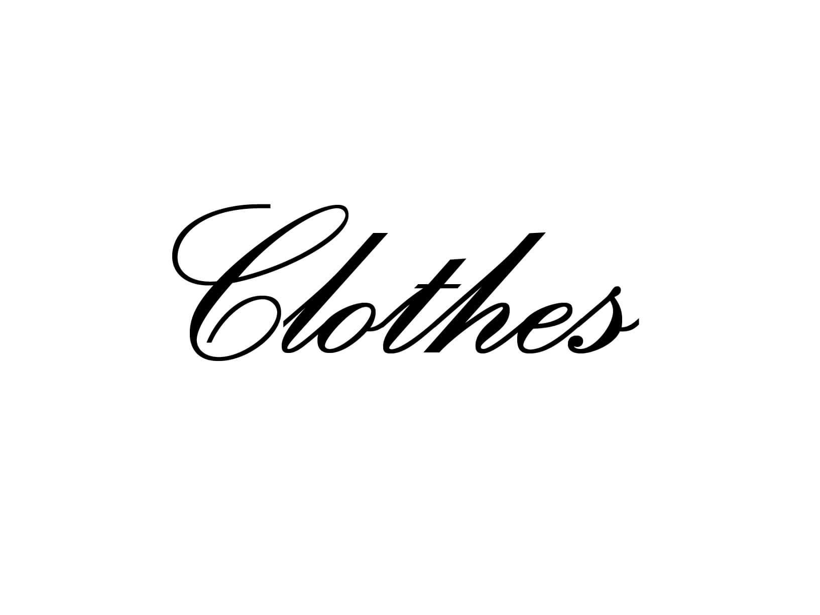 """Meubelsticker """"Clothes"""""""