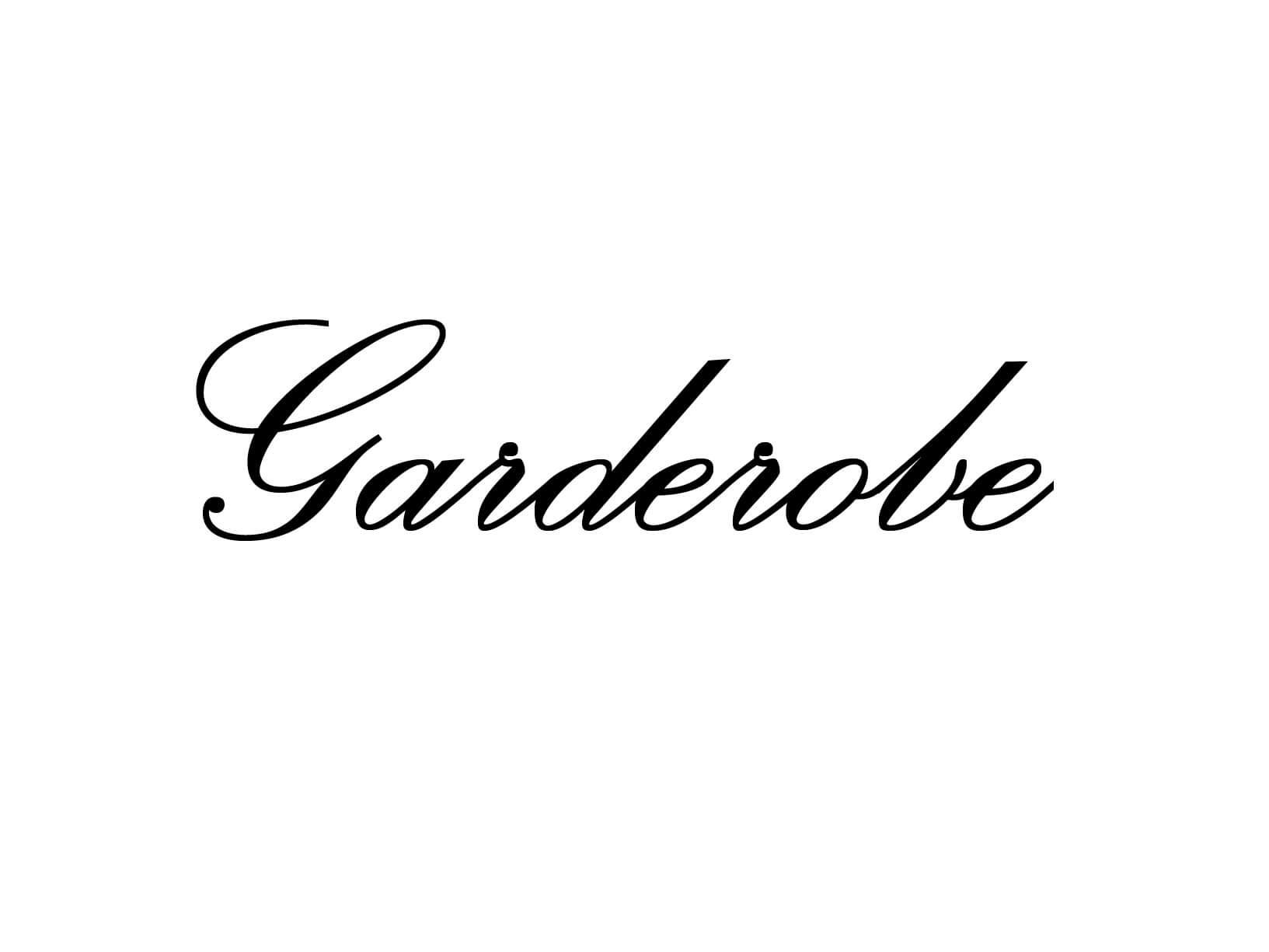 "Meubelsticker ""Garderobe"""