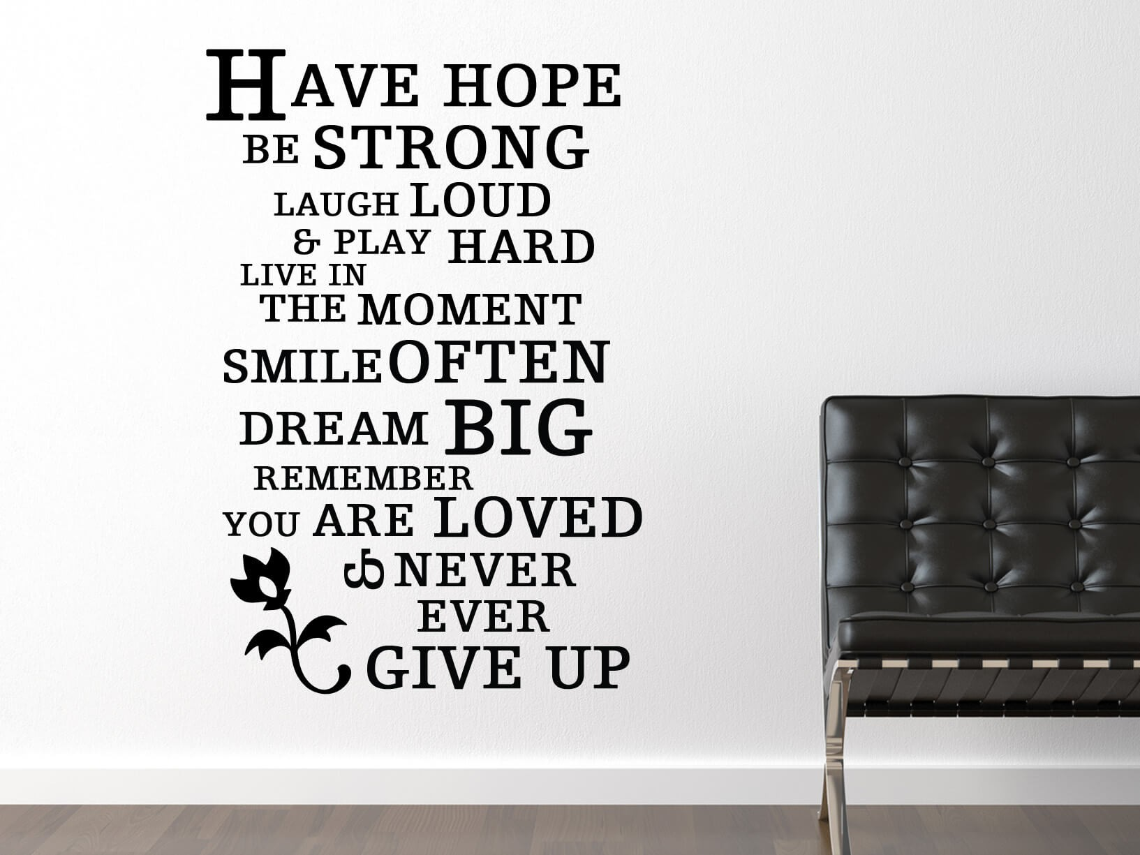 """Muursticker """"Have Hope Be Strong"""""""