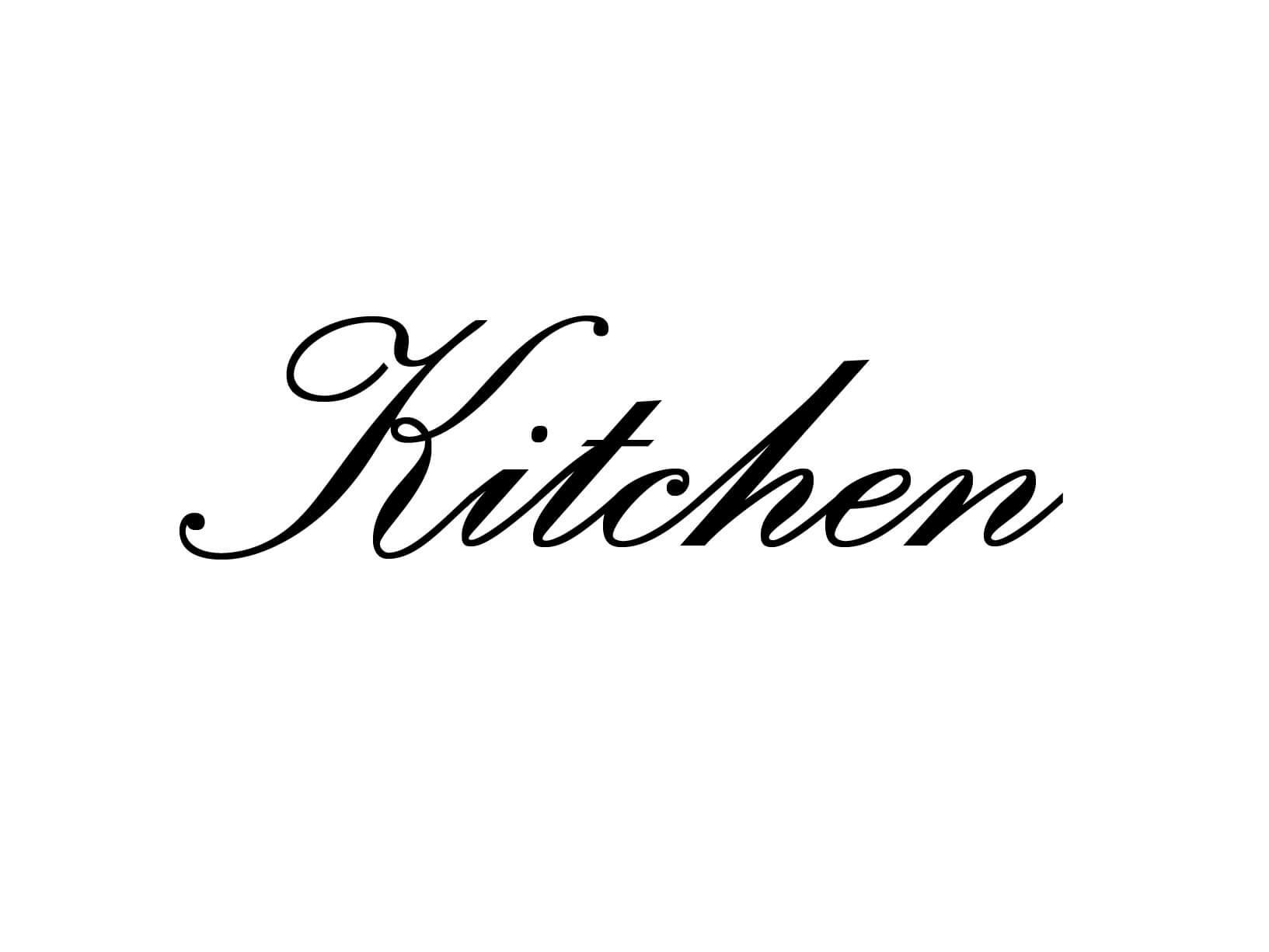 "Deursticker ""Kitchen"""