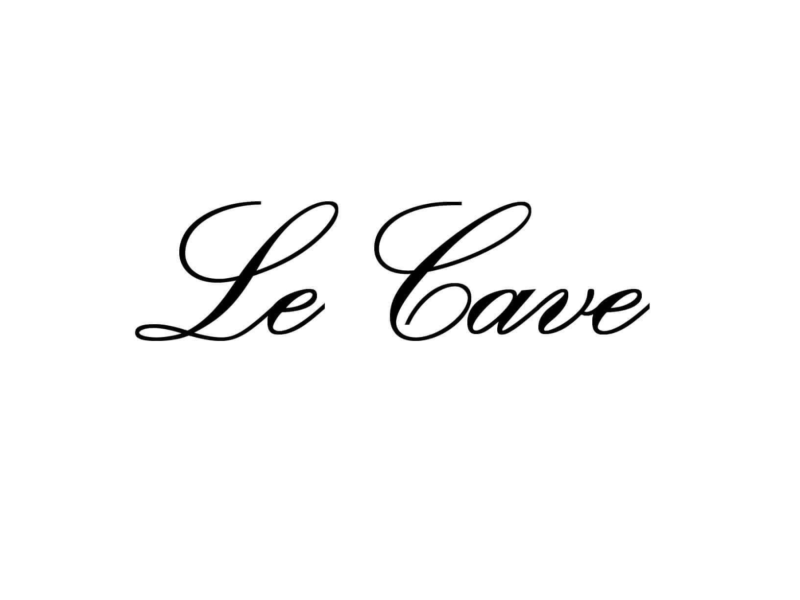 """Meubelsticker """"Le Cave"""""""