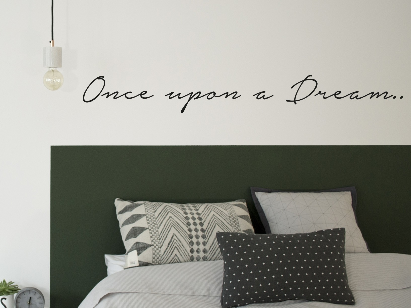 "Muursticker ""Once upon a dream"""