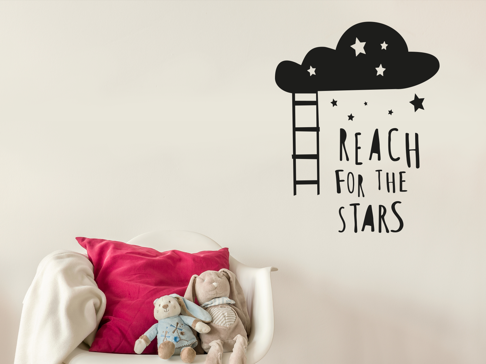 "Muursticker ""Reach for the stars"""