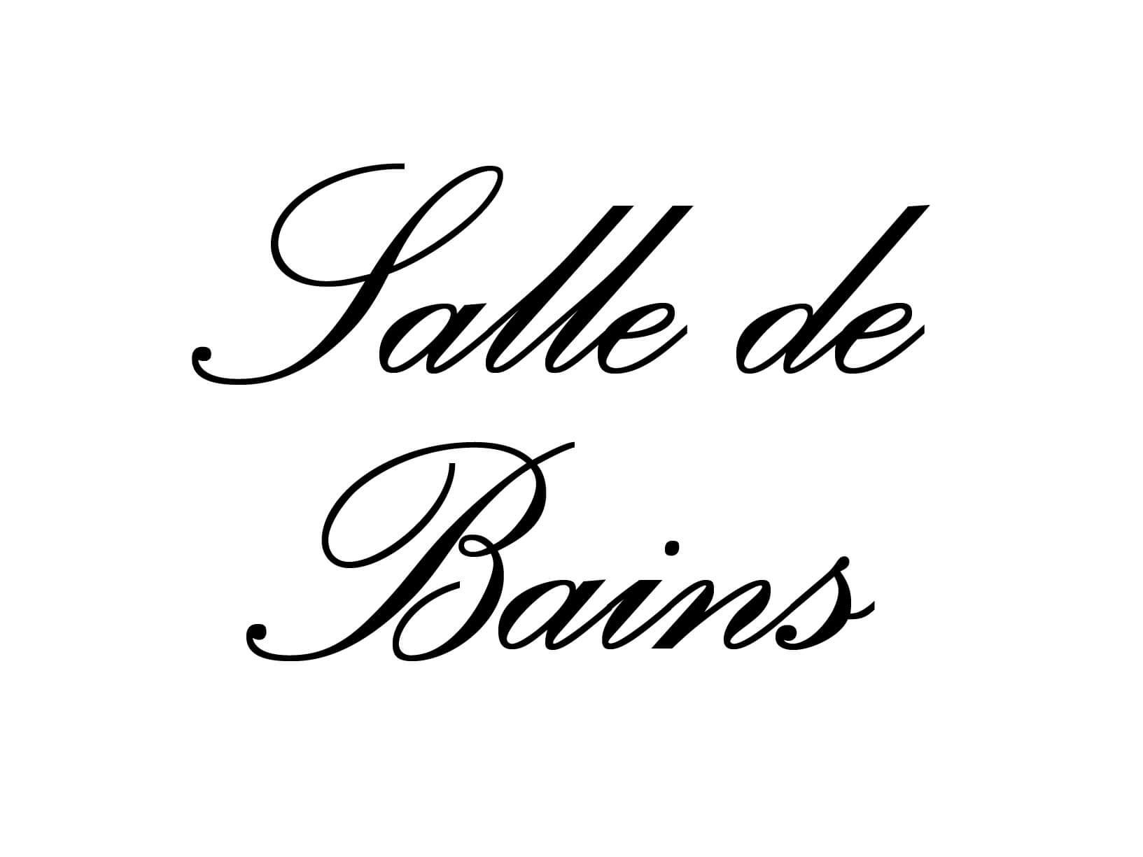 """Deursticker """"Salle de Bains"""""""