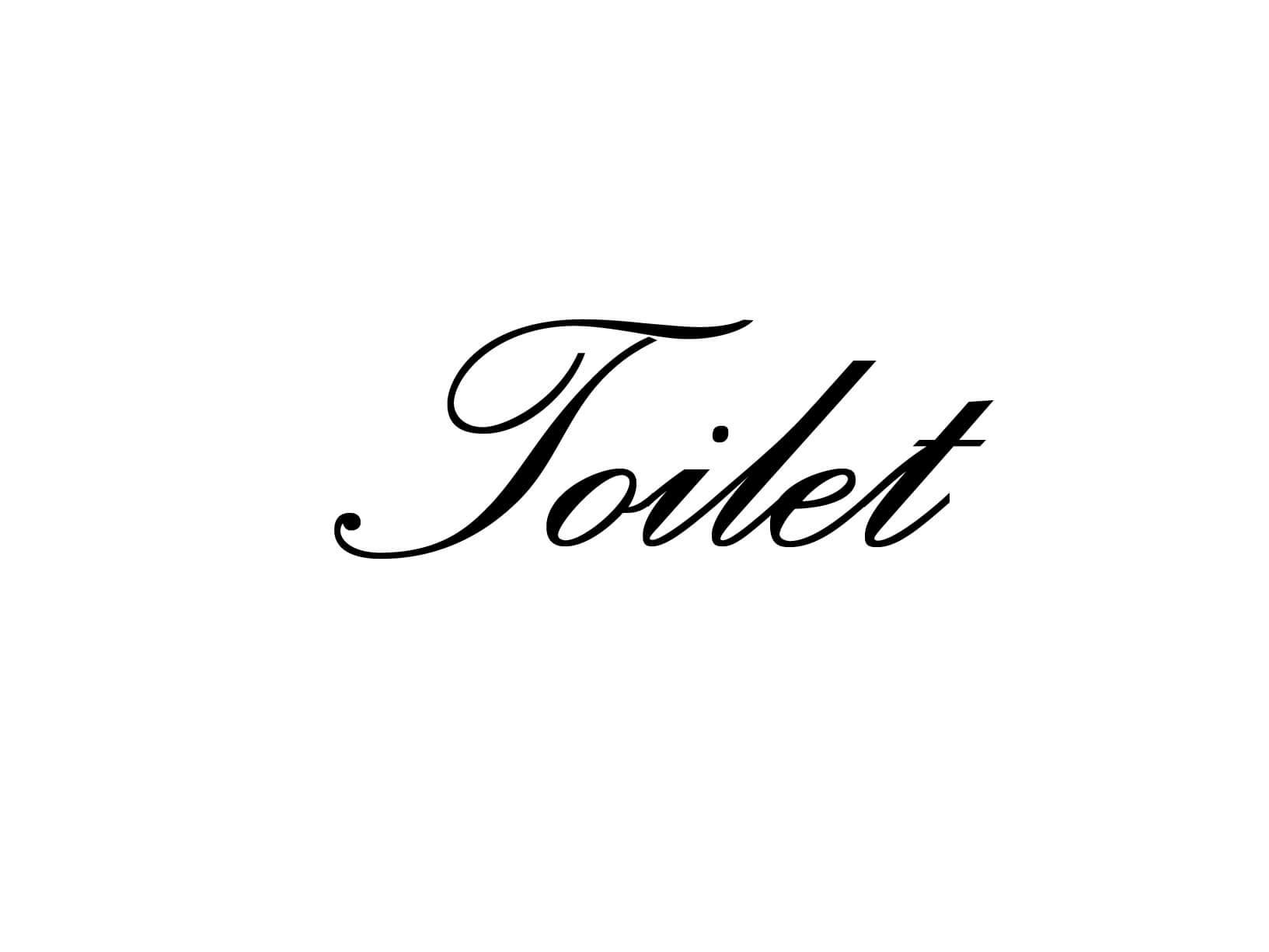 """Deursticker """"Toilet"""""""