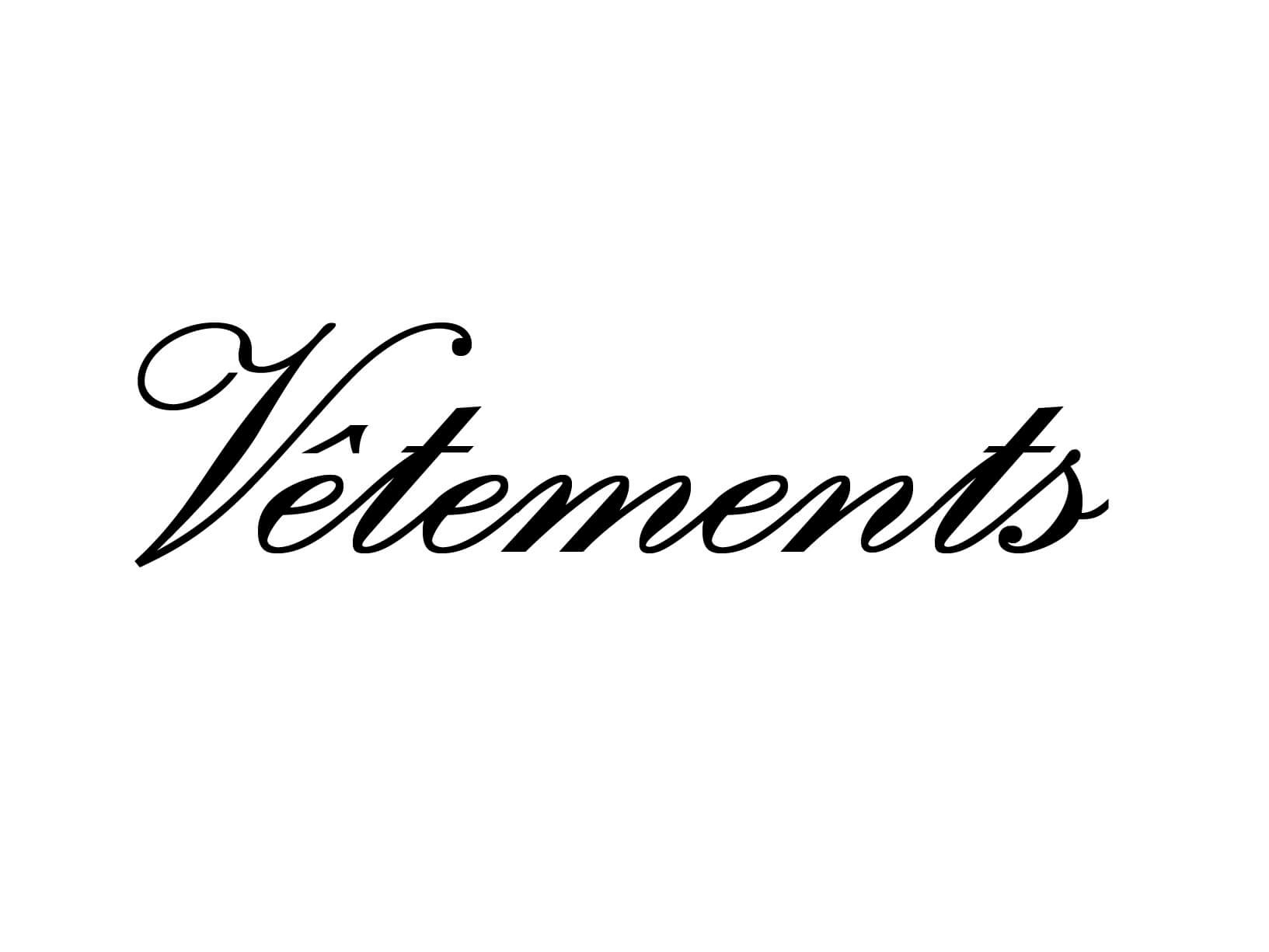 "Deursticker ""Vetements"""
