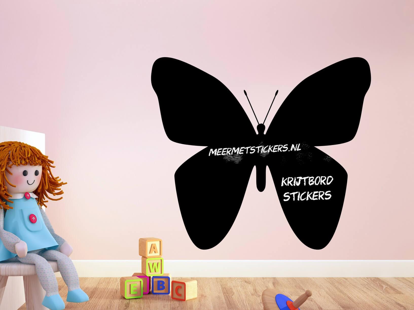 Krijtbord muursticker vlinder