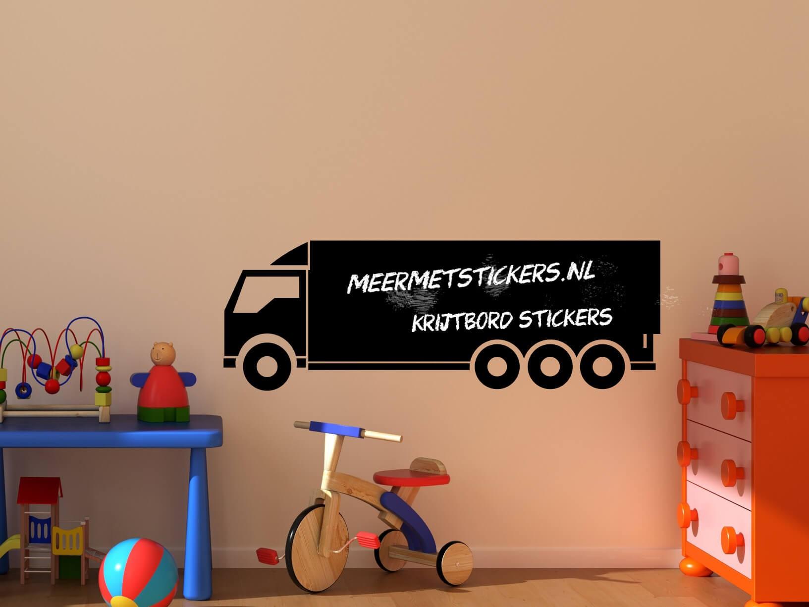 Krijtbord muursticker vrachtwagen