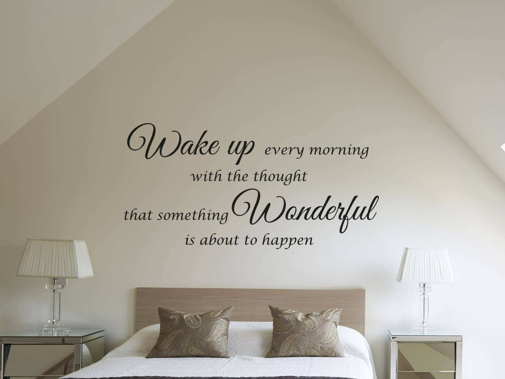 "Muursticker ""Wake up every morning"""
