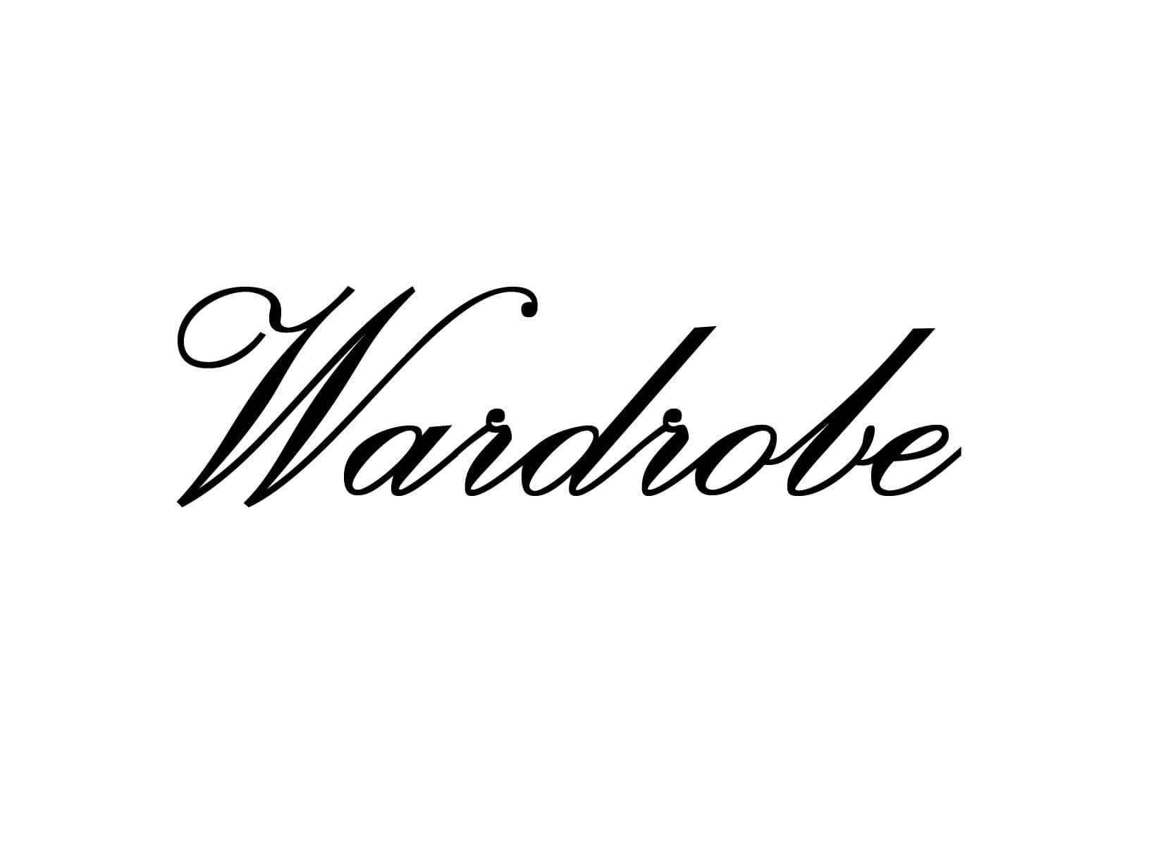 "Deursticker ""Wardrobe"""