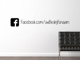 Muursticker Facebook icoon met eigen tekst