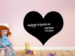 Krijtbord muursticker hart