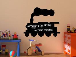 Krijtbord muursticker trein locomotief