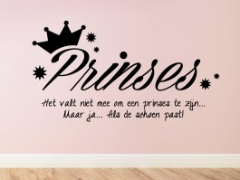 Muursticker Prinses