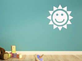 Muursticker zon