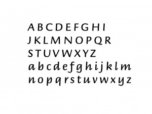 "Muursticker ""Alfabet type 2"""