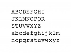 "Muursticker ""Alfabet type 4"""