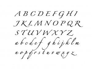 "Muursticker ""Alfabet type 6"""
