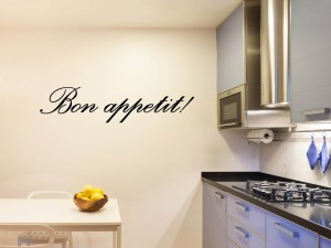 "Muursticker ""Bon Appetit"""