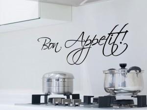 """Muursticker """"Bon Appetit"""" in sierletters"""