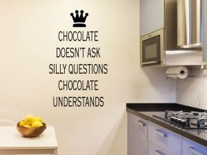 "Muursticker ""Chocolate"""
