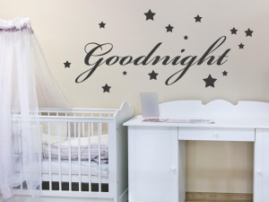 "Muursticker ""Goodnight met sterren"""