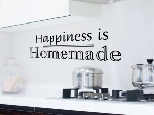 "Muursticker ""Happiness is homemade"""