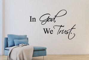 "Muursticker ""In God, We Trust"""
