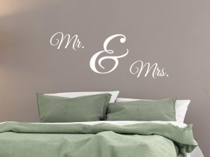 "Muursticker ""Mr. & Mrs."""