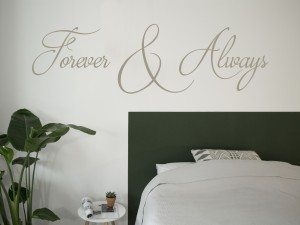 "Muursticker ""Forever & Always"""