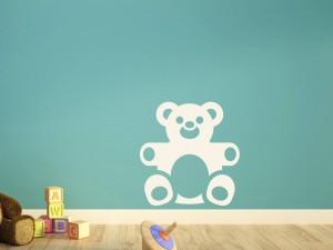Muursticker teddybeer